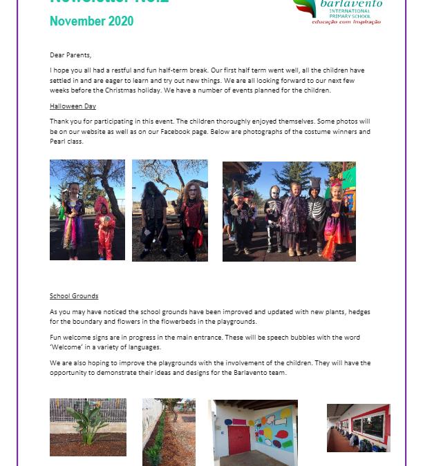 Newsletter No. 2 November 2020