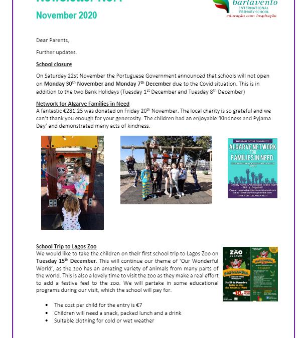 Newsletter No. 4 November 2020