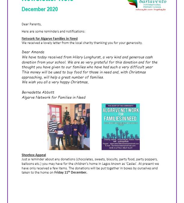 Newsletter No. 5 December 2020