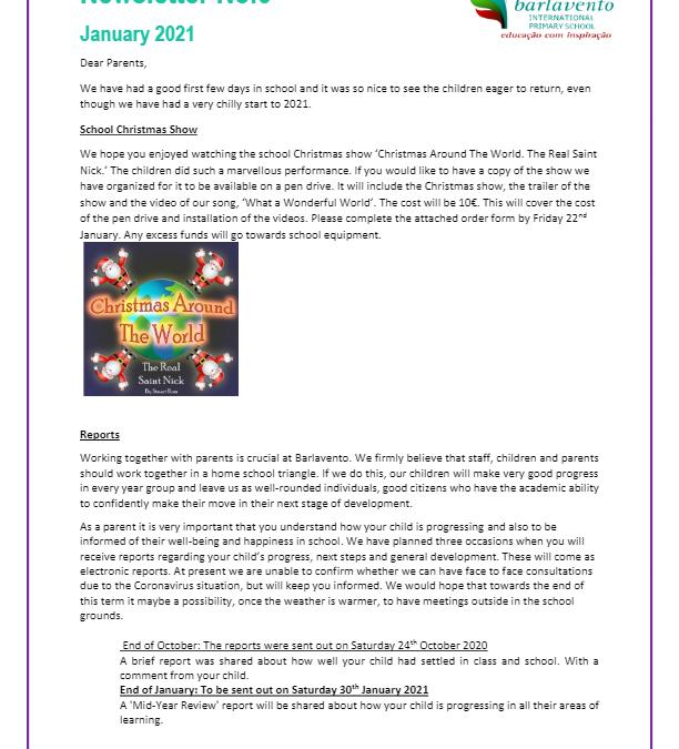 Newsletter No. 6 January 2021