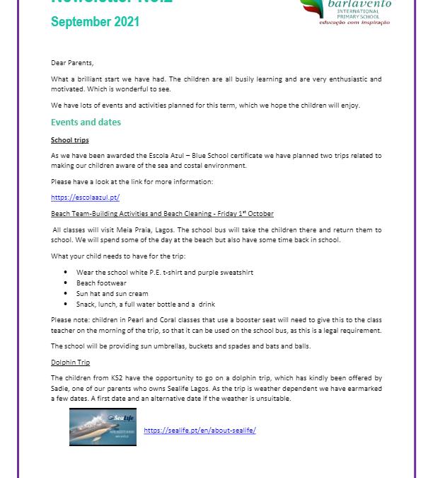 Newsletter No. 2 September 2021